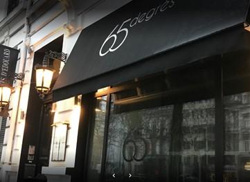 65 degrees restaurant entrance