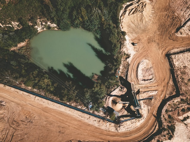 Quarry, extraction, deforestation