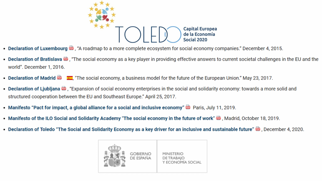 19 EU Member States adopt Toledo Declaration on Social and Solidarity  Economy | Social Economy Europe