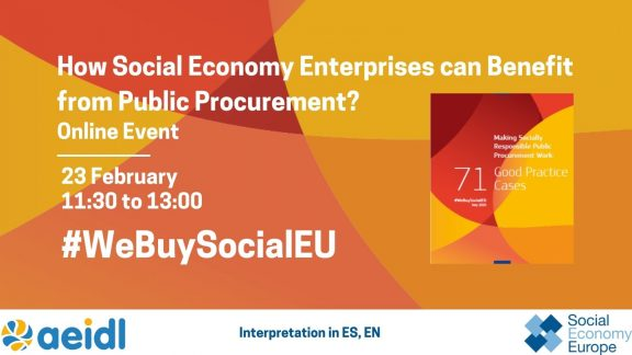 #webuysocialeu public procurement AEIDL